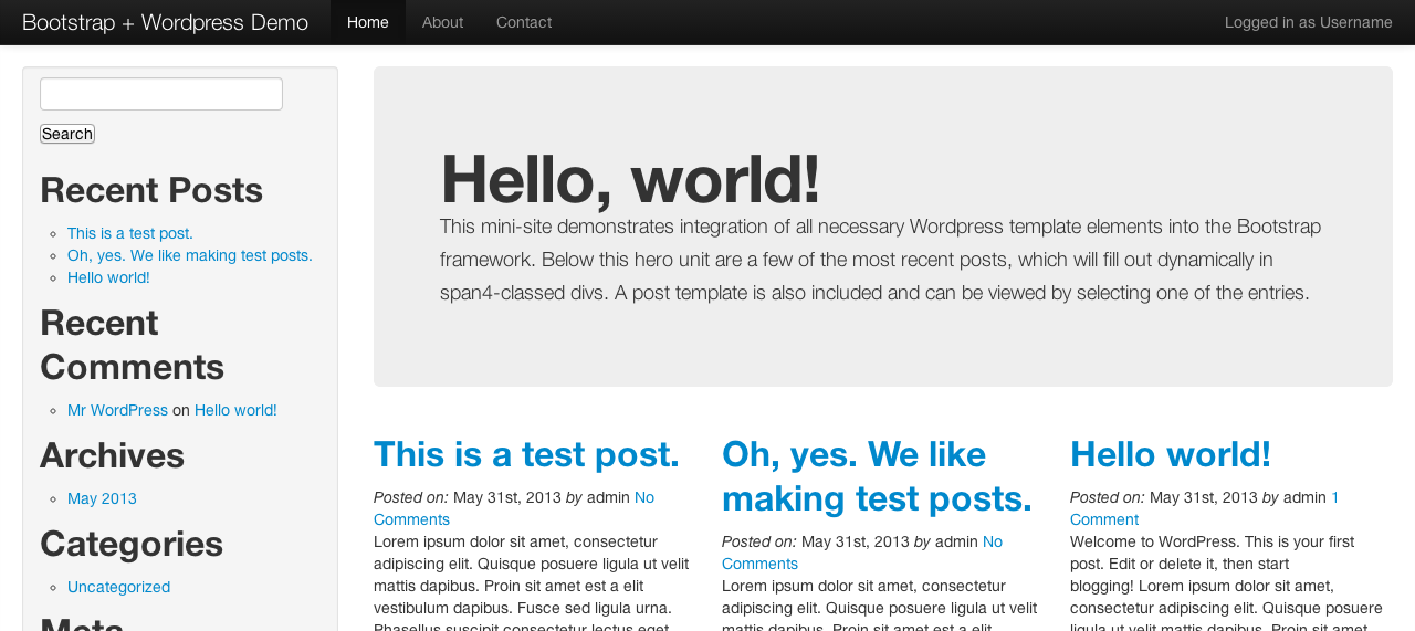 How to create a wordpress theme with twitter bootstrap for Making a wordpress template
