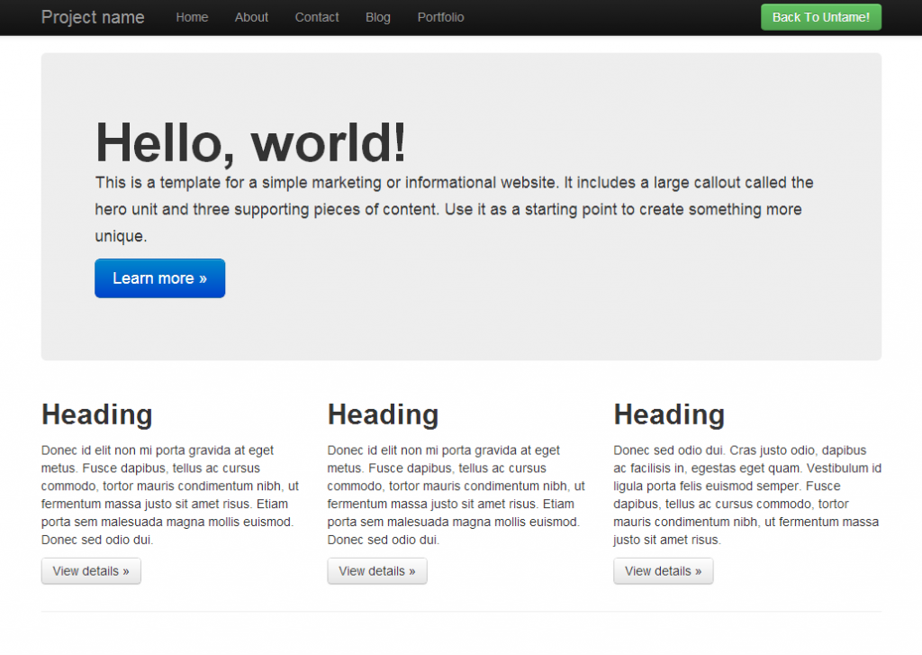 How To Design a Single Page Scrolling Site With Twitter Bootstrap ...