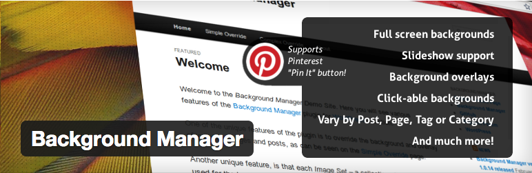 WordPress Background Manager